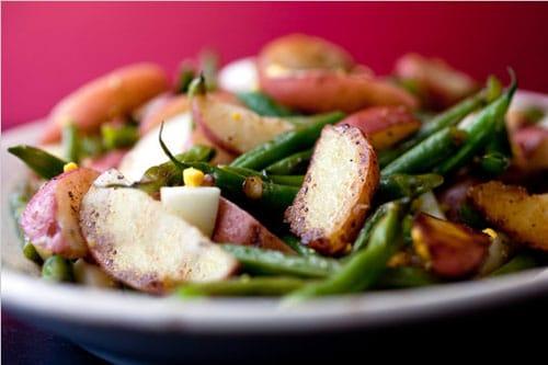 feijão-verde-alho-batatas