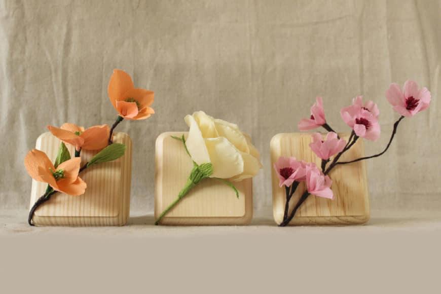 Como Fazer Mini Quadros Com Flores De Papel Crepe - Flores-de-papel-crepe