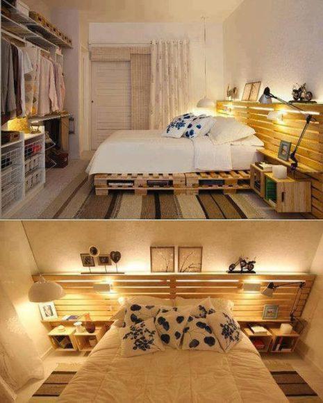 Camas com paletes de madeira 3