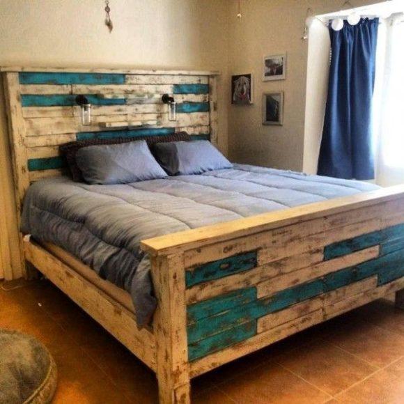 Camas com paletes de madeira 5