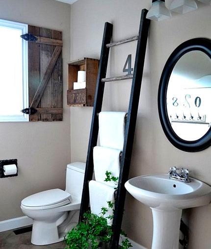 Banheiros pequenos Ideias para armazenar tolhas -> Ideias Criativas Para Decoracao De Banheiro