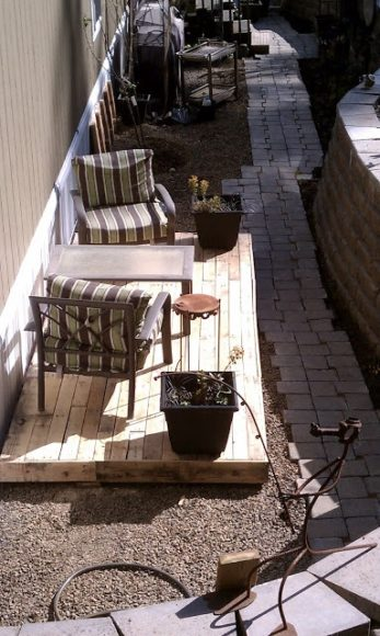 Ideias para o jardim com paletes 1