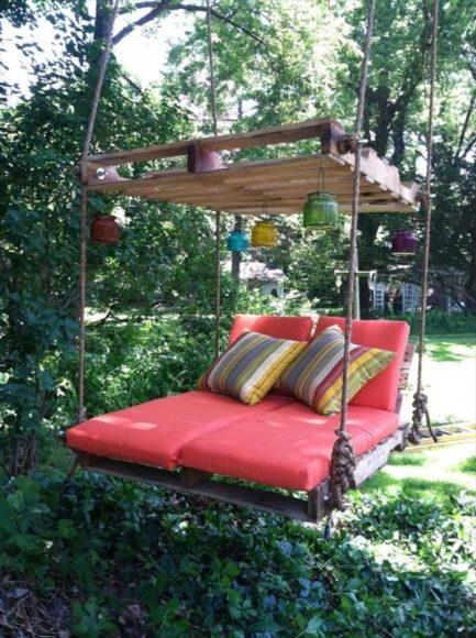 Ideias para o jardim com paletes 22