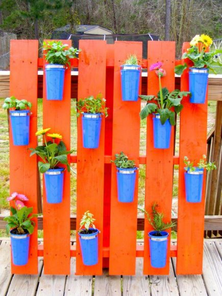 Ideias para o jardim com paletes 4