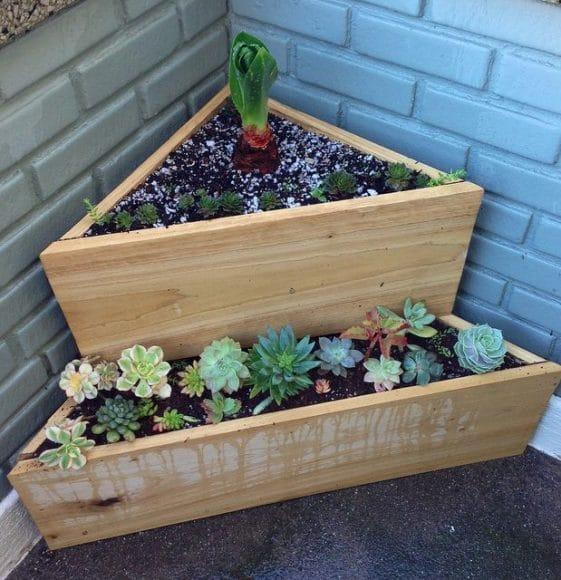 Ideias para o jardim com paletes 42