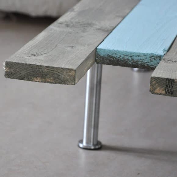 mesa de centro com paletes de madeira 1