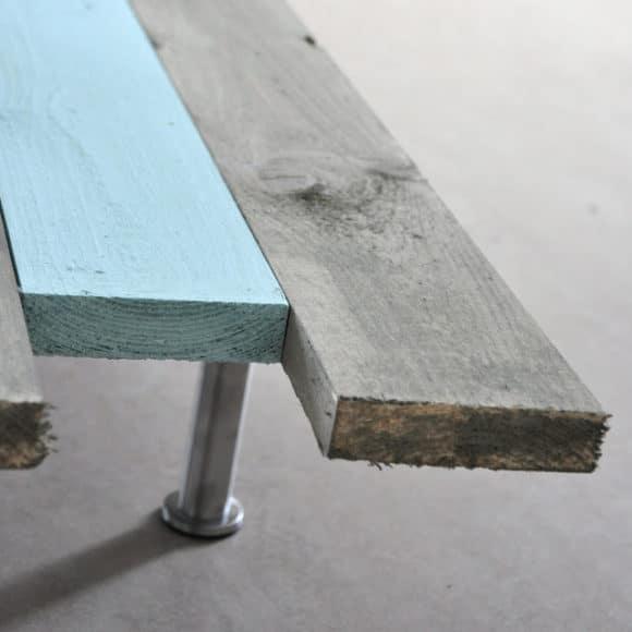 mesa de centro com paletes de madeira 2