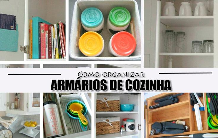 Como organizar os seus arm rios de cozinha - Como organizar armarios ...