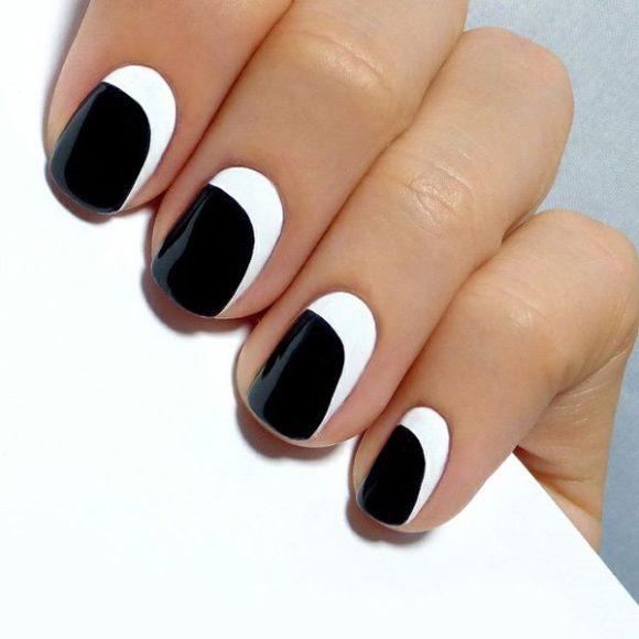 unhas pretas  e branco 5