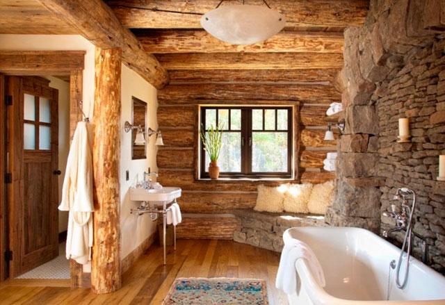 Banheiros Pequenos 8 Ideias para decoração rústica -> Decoracao De Banheiro Estilo Rustico