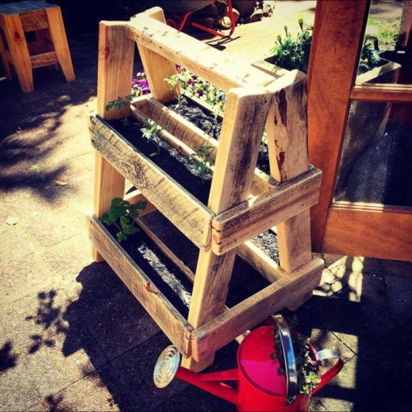 A-frame-pallet-2-tiered-planter