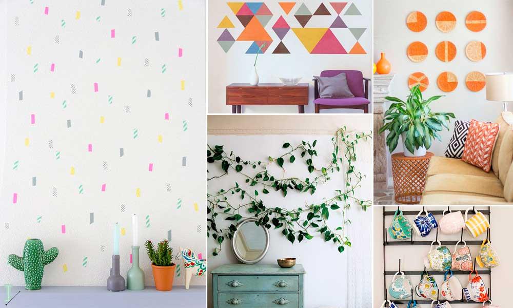 25 ideias criativas para decorar as paredes for Paredes decoradas
