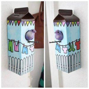 artesanato com caixa de leite