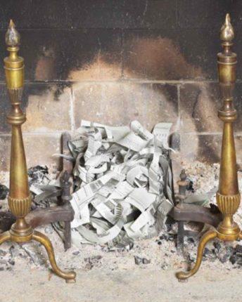 como fazer fogo na lareira