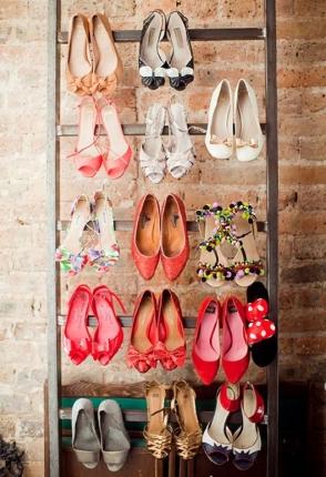 como organizar os sapatos