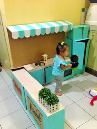 cozinha de papelão