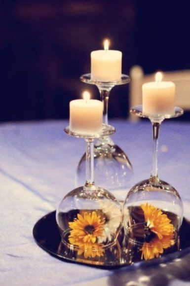 decoração em velas