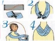 formas de como usar um cachecol