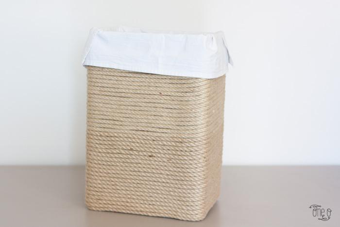 como fazer um cesto de roupas