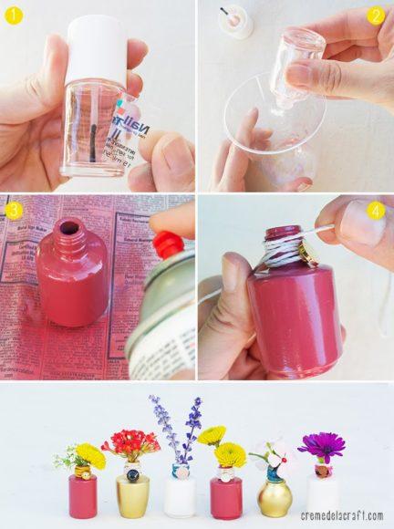vaso de vidro de esmalte