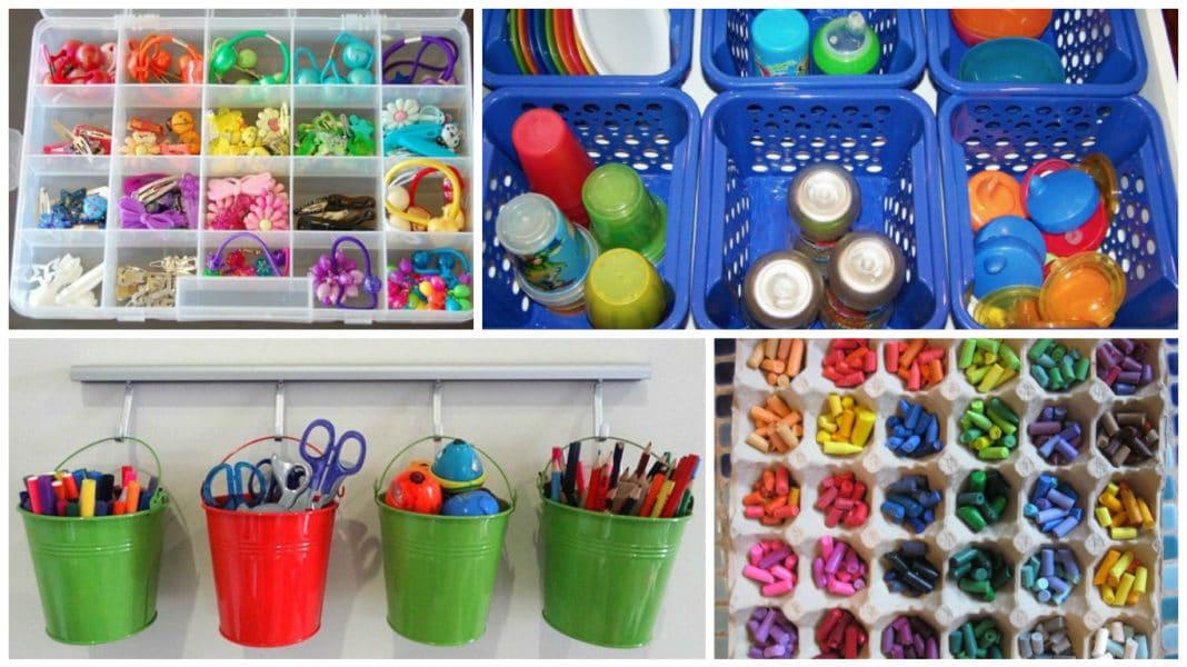 dicas de organizacao para as criancas