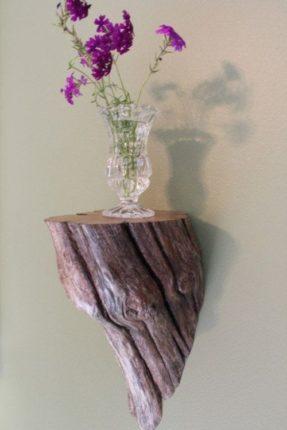 artesanato com tronco de madeira