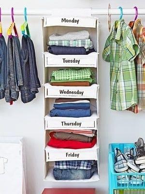 dicas para arrumar o seu guarda roupa