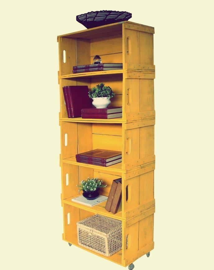 caixote de madeira