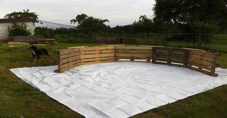 M veis de paletes fa a uma piscina por r 300 for Costruire piscina fai da te