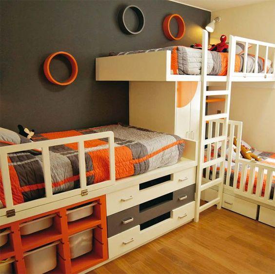 Small Kids Bedroom Ideas Plans: 27 Ideias De Decoração De Quartos Para Menino E....Menina