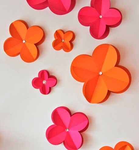 Faça Você Mesmo Flores 3d Em Papel